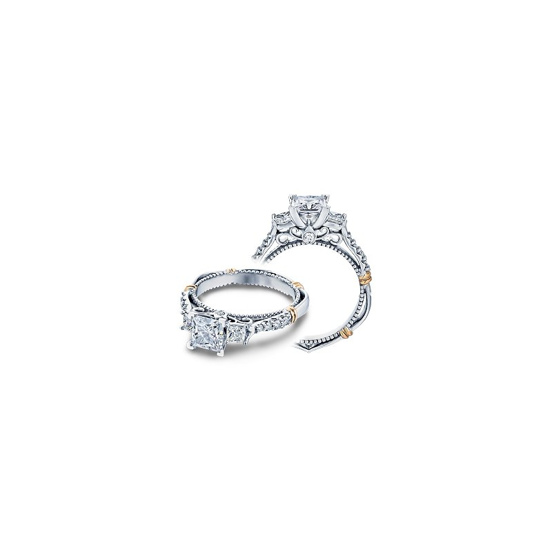 Verragio Verragio Parisian D-124P - 14k White and Rose Gold Diamond Engagement Ring by Verragio