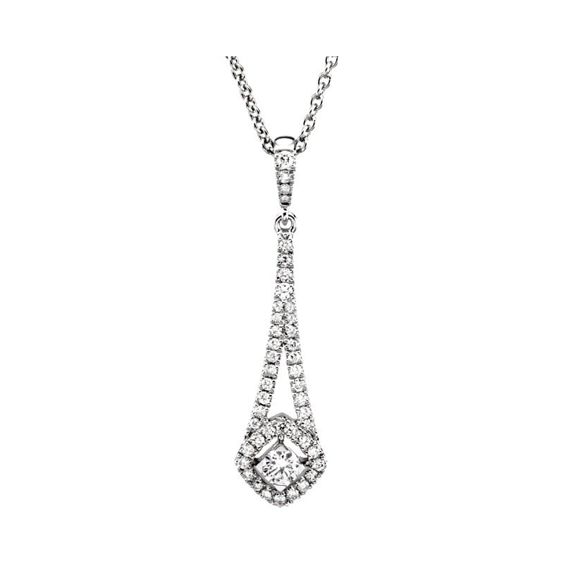 Signature Collection Diamond Chandelier Pendant in 14k White Gold