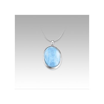 Marahlago Basic Collection Oval Larimar Necklace