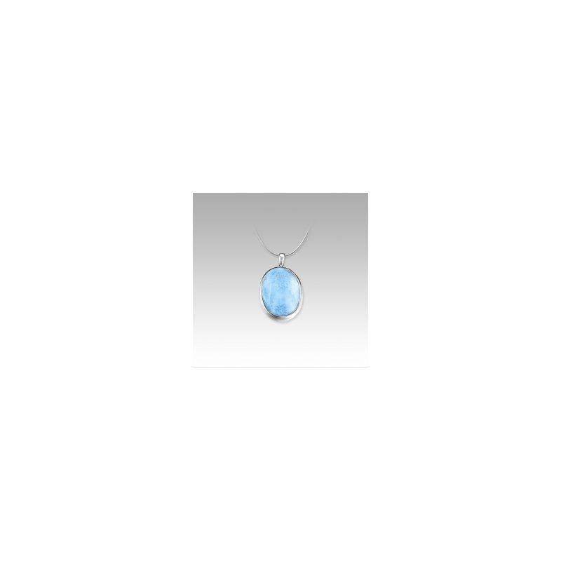 Marahlago Larimar Marahlago Basic Collection Oval Larimar Necklace