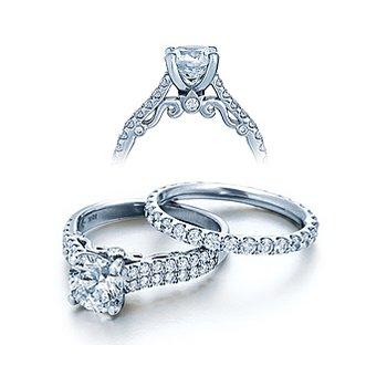 Verragio Insignia 7035 - 18k White Gold Diamond Engagement Ring by Verragio