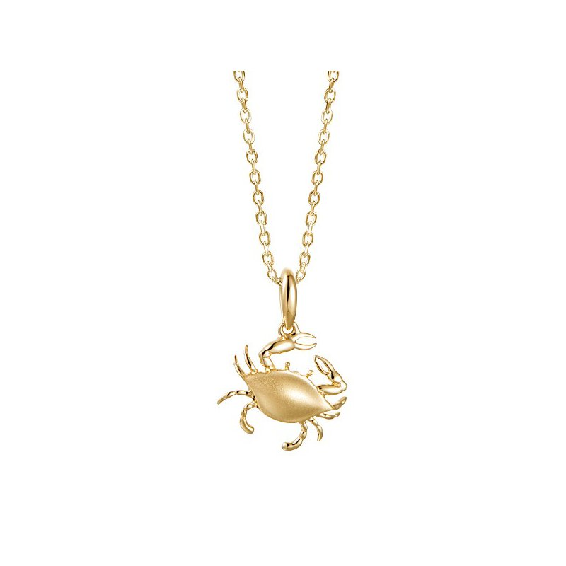 Sealife Jewelry 14k Yellow Gold Crab Pendant