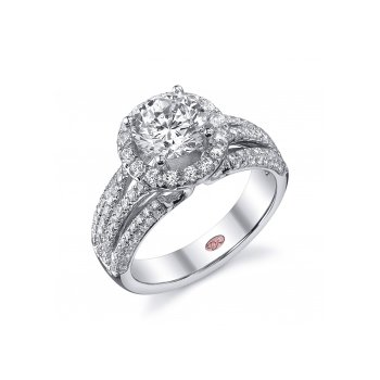 Demarco DW4740 - 18k White Gold Engagement Ring by Demarco