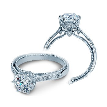 Verragio Couture-0429RD - 14k White Gold Diamond Engagement Ring by Verragio
