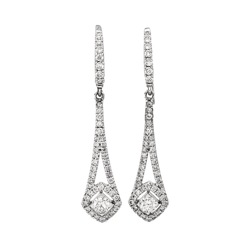 Signature Collection 14k White Gold Diamond Chandelier Earrings - #42477