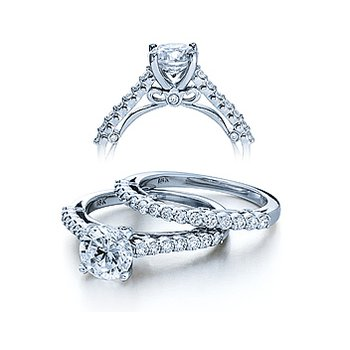 Verragio Couture 0385S - 18k White Gold Diamond Engagement Ring by Verragio