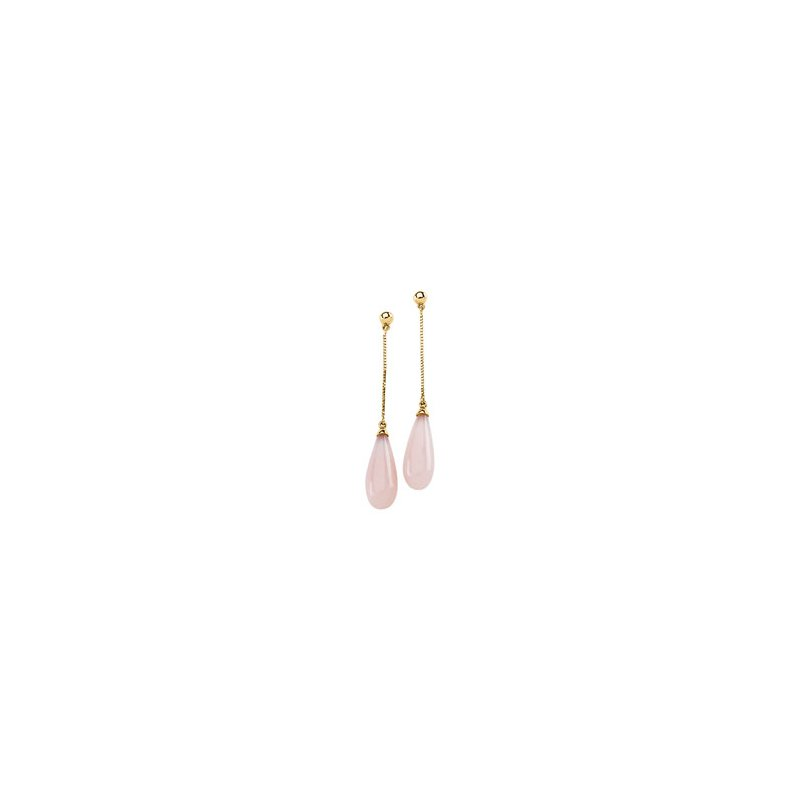 Signature Collection Genuine Pink Opal Briolette Earrings