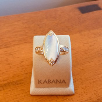Kabana White Mother of Pearl and Diamond Ring #35295
