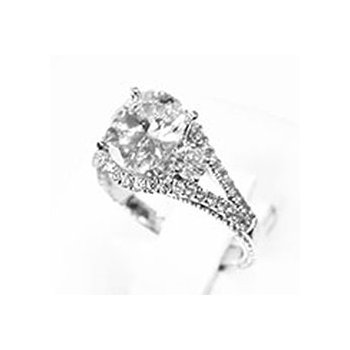 18k White Gold Diamond Engagement Ring Mounting - 37585