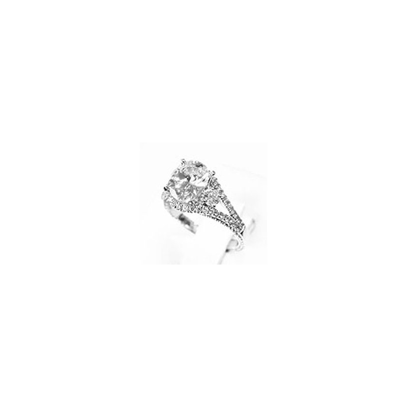 Signature Collection 18k White Gold Diamond Engagement Ring Mounting - 37585