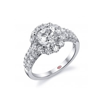 Demarco DW5604 - 18k White Gold Engagement Ring by Demarco