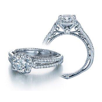 Verragio Venetian 5014R - 18k White Gold Diamond Engagement Ring by Verragio
