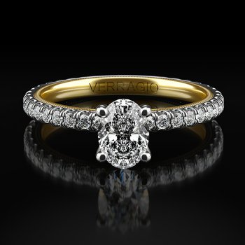 Oval Solitaire from Verragio's New Tradition Collection TR150OV4-2WY