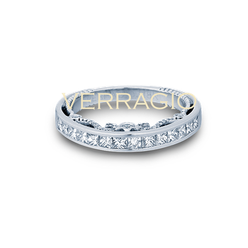 Verragio Insignia 7064 PW Princess Cut Diamond Wedding Ring