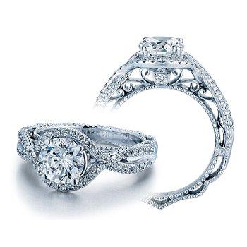 Verragio Venetian 5026 - 18k White Gold Diamond Engagement Ring by Verragio