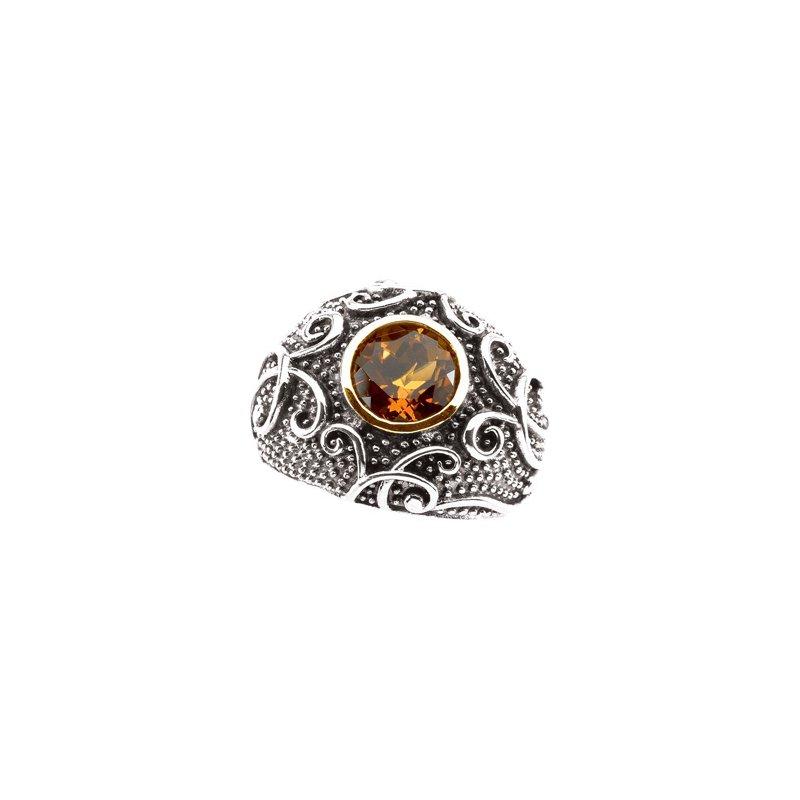 Signature Collection Genuine Madeira Citrine Ring