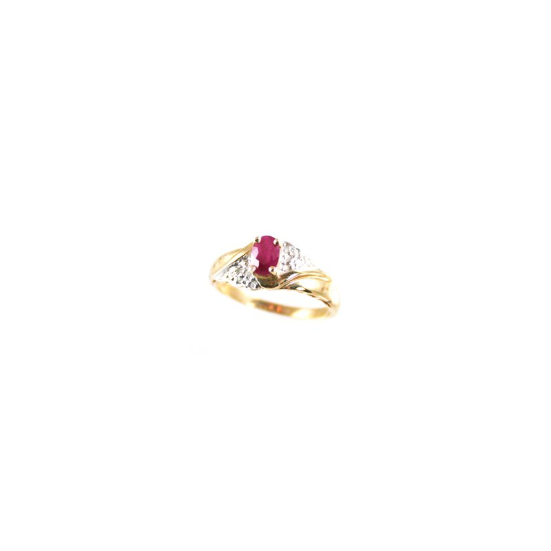Signature Collection Genuine Ruby Ring in 14k Yellow Gold