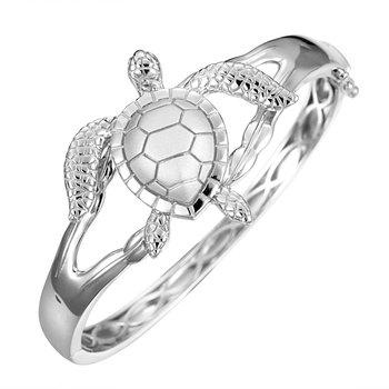 Sterling Silver Turtle Bangle Bracelet