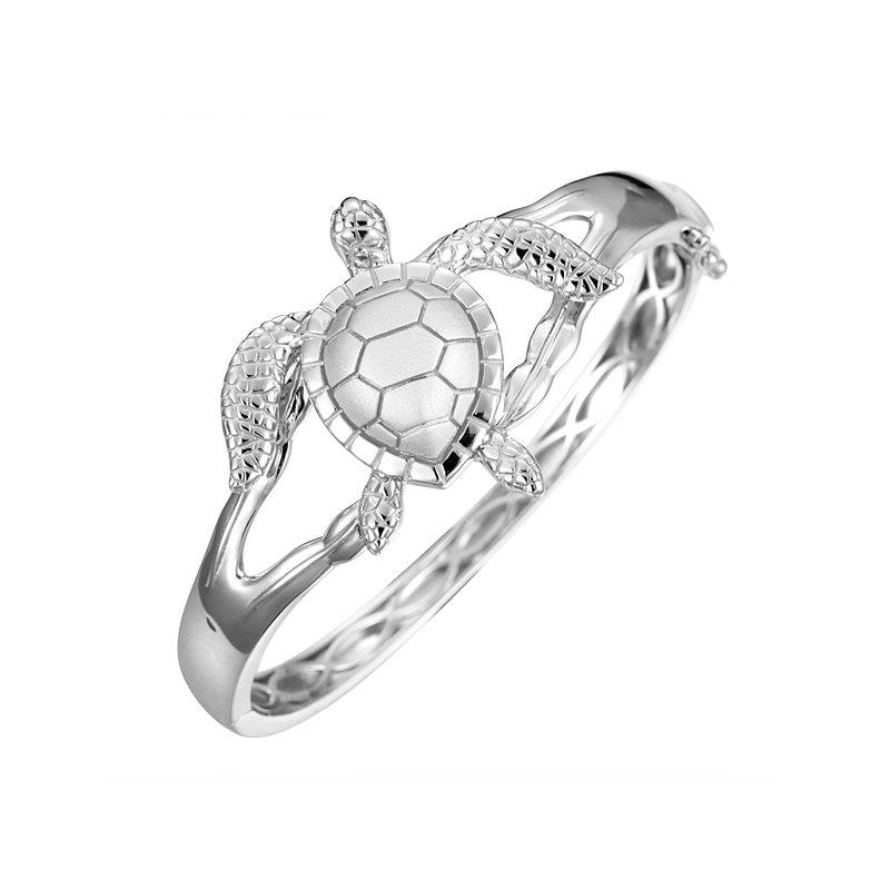 Sealife Jewelry Sterling Silver Turtle Bangle Bracelet