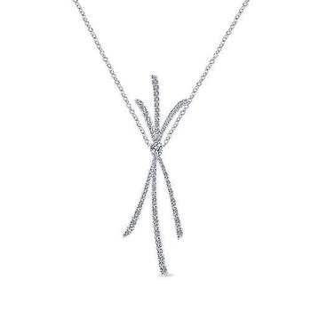 18k White Gold Necklace from the Amavida Collection by Gabriel NY