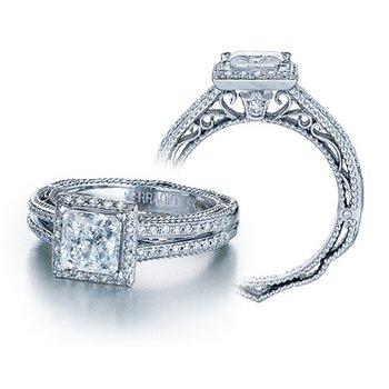 Verragio Venetian-5007P - 14k White Gold Diamond Engagement Ring by Verragio