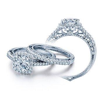 Verragio Venetian-5022CU - 14k White Gold Diamond Engagement Ring by Verragio