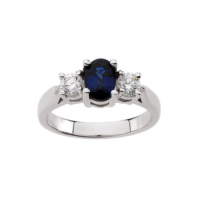 Signature Collection Genuine Sapphire & Diamond Ring - EL349134