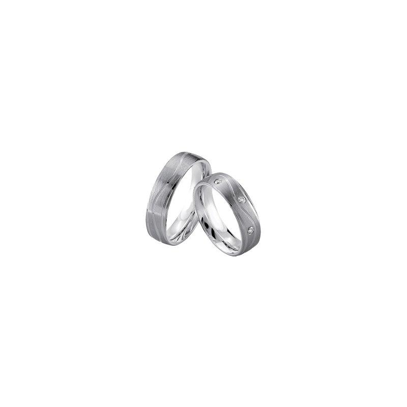 Samuel Jewels Palladium and Silver 6mm Wedding Band