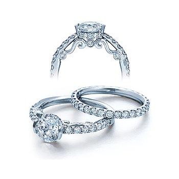 Verragio Insignia 7006 - 18k White Gold Diamond Engagement Ring by Verragio