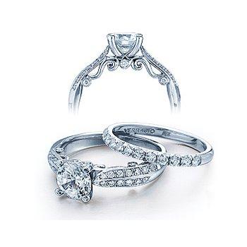 Verragio Insignia 7023 - 18k White Gold Diamond Engagement Ring by Verragio