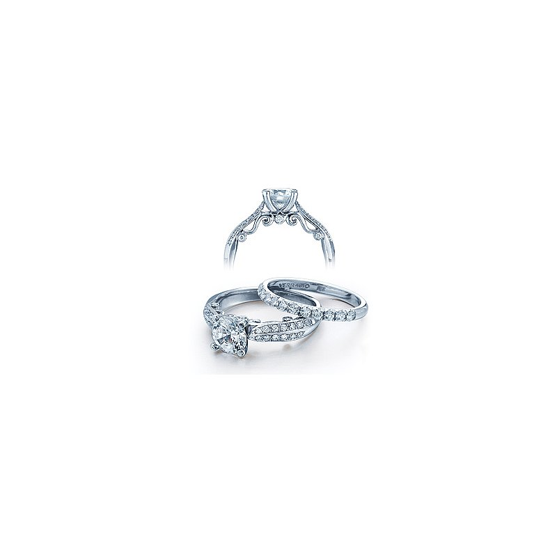 Verragio Verragio Insignia 7023 - 18k White Gold Diamond Engagement Ring by Verragio