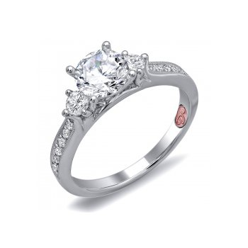 Demarco DW6097 - 18k White Gold Engagement Ring by Demarco