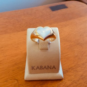Kabana White Mother of Pearl Ring
