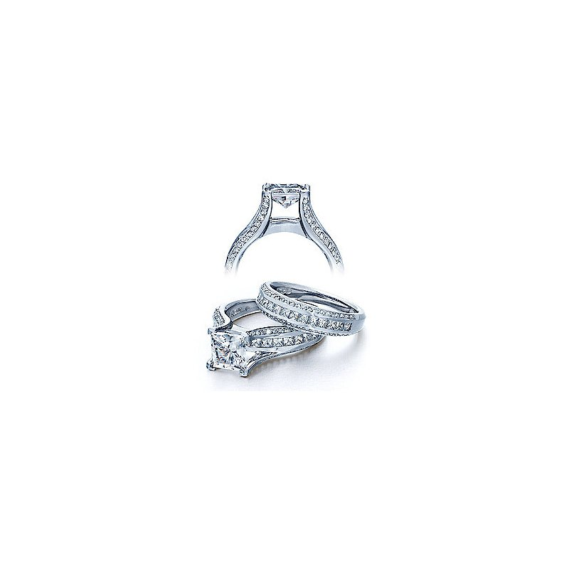Verragio Verragio Classico-0262-Princess - Verragio Diamond Engagement Ring in 14k White Gold