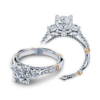 Verragio Parisian D-124R - 14k White and Rose Gold Diamond Engagement Ring by Verragio