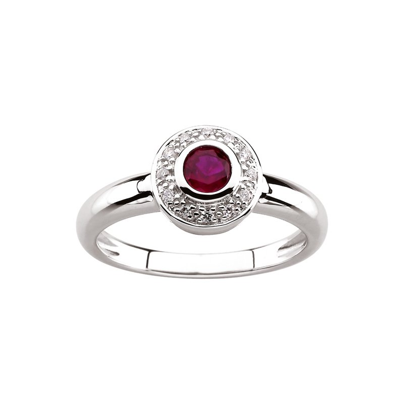 Signature Collection Genuine Ruby & Diamond Ring