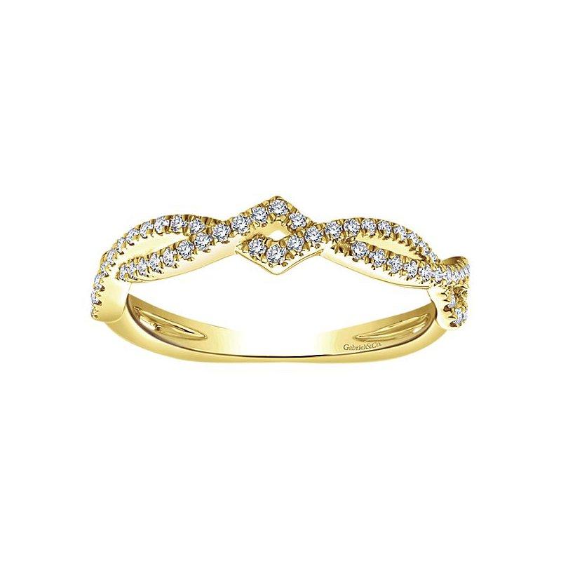 Gabriel NY Gabriel NY 14k Yellow Gold Stackable Diamond Band - Style #LR51168Y45JJ