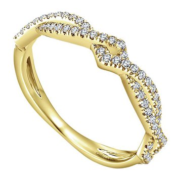 Gabriel NY 14k Yellow Gold Stackable Diamond Band - Style #LR51168Y45JJ