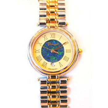 Classique' Watches Genuine Australian Opal Dial Watch