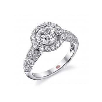 Demarco DW5455 - 18k White Gold Engagement Ring by Demarco