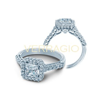 Verragio Classic V-903-P5.5 - 14k White Gold Diamond Engagement Ring by Verragio