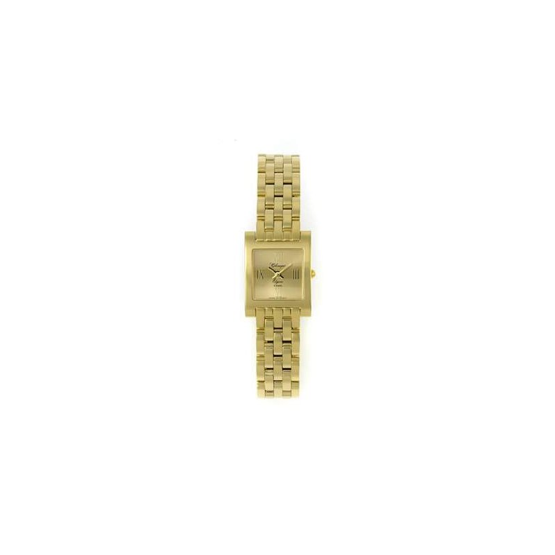 Swiss Watches Classique Ladies' Stainless Steel Gold Plated Swiss Quartz Watch - #28/89GP