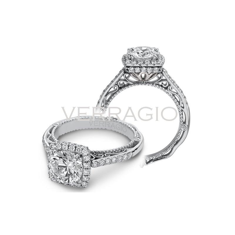 Verragio Verragio Venetian 5053CU - 18k White Gold Diamond Engagement Ring by Verragio