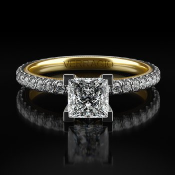 Princess Cut Solitaire from Verragio's New Tradition Collection TR150P4-2WY
