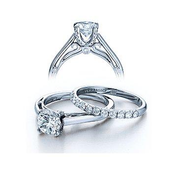 Verragio Couture 0388 - 18k White Gold Diamond Engagement Ring by Verragio