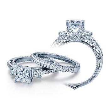 Verragio Venetian 5023P - 18k White Gold Diamond Engagement Ring by Verragio