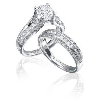 Verragio Classico-0262 - Verragio Diamond Engagement Ring in 14k White Gold