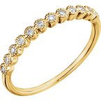 Signature Collection Ladies' 14k Yellow Gold Diamond Wedding and Anniversary Band - #41385Y
