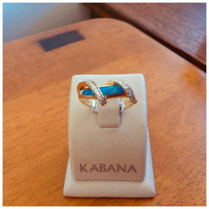Kabana Jewelry Kabana Australian Opal and Diamond Ring - #34649
