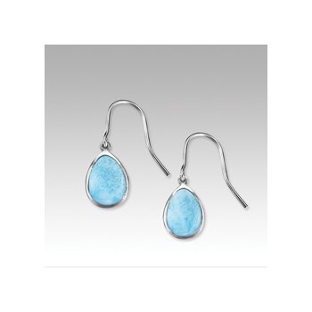 Marahlago Basic Collection Pear Shaped Larimar Dangle Earrings